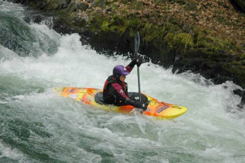 whitewater rafting in rapids